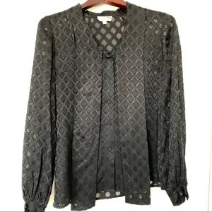 ▪️Tory Burch▪️ Black Leopard Print Blouse 🔥